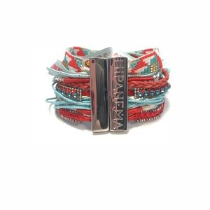 Hipanema Red/Baby Blue Bracelet